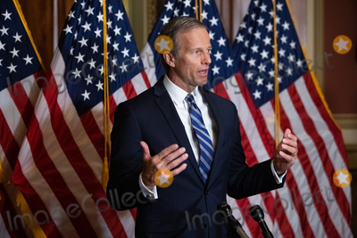 Supreme Court Photo - Senator John Thune R-SD speaks during a press conference after President Trumps Supreme Court nominee Judge Amy Coney Barrett was confirmed by the Senate as the 115th justice to the Supreme Court on Capitol Hill Monday October 26th 2020AdMedia