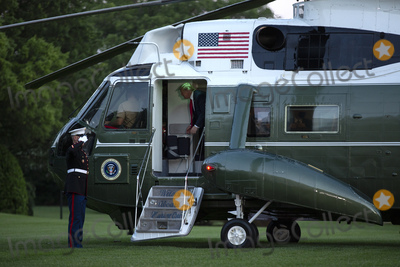 White House Photo - United States President Donald J Trump speaks before stepping off Marine One at the White House in Washington DC US as he arrives from the Kennedy Space Center in Florida on Saturday May 30 2020  Trump vowed his administration would end what he called mob violence in US cities following the death of an unarmed black man at the hands of Minnesota police blaming leftist groups for clashes with police and property damage around the nation Credit Stefani Reynolds  Pool via CNPAdMedia