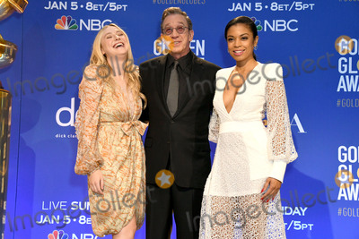Dakota Fanning Photo - 09 December 2019 - Beverly Hills California - Dakota Fanning Tim Allen Susan Kelechi-Watson 77th Annual Golden Globe Nominations held at Beverly Hilton Hotel Photo Credit Birdie ThompsonAdMedia