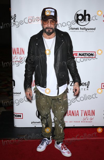 AJ MCLEAN Photo - 06 December 2019 - Las Vegas NV - AJ McLean Red Carpet for the Grand Opening of Shania Twain Lets Go The Las Vegas Residency at Planet Hollywood Resort  Casino  Photo Credit MJTAdMedia