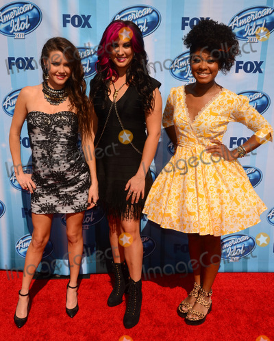 Jessica Meuse Photo - 21 May 2014 - Los Angeles California - Kristen OConnor Jessica Meuse Majesty Rose Arrivals for the American Idol Season 13 finale held at the Nokia Theater in Los Angeles Ca Photo Credit Birdie ThompsonAdMedia