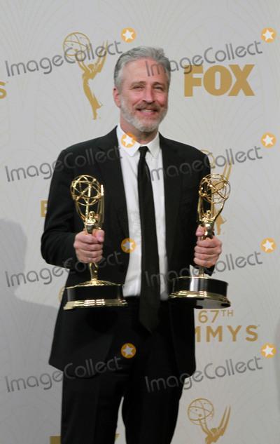 Jon Stewart Photo - Jon Stewart 67th Annual Primetime Emmy Awards Press Room held at Microsoft Theater Photo Credit Theresa BoucheAdMedia