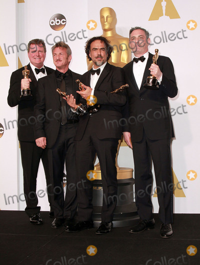 Armando Bo Photo - 22 February 2015 - Hollywood California -(L-R) Writers Nicolas Giacobone Director Alejandro Gonzalez Inarritu Alexander Dinelaris and Armando Bo winners of Best Original Screenplay for Birdman pose  in the press room during the 87th Annual Academy Awards presented by the Academy of Motion Picture Arts and Sciences held at the Dolby Theatre Photo Credit Theresa BoucheAdMedia