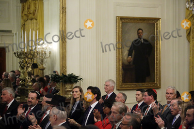 Benjamin Netanyahu Photo - Guest attend a meeting with United States President Donald J Trump and Israels Prime Minister Benjamin Netanyahu in the East Room of the White House in Washington DCon Tuesday January 28 2020 Credit Joshua Lott  CNPAdMedia