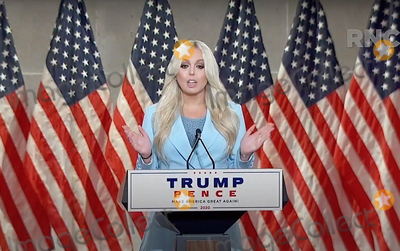 Tiffany Photo - In this image from the Republican National Convention video feed Tiffany Trump makes remarks during the first day of the convention  on Tuesday August 25 2020Credit Republican National Convention via CNPAdMedia
