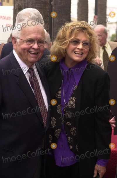 Angie Dickinson Photo - Johnny Grant and Angie Dickinson at the Walk of Fame ceremony for Rowan and Martin Hollywood Blvd 04-02-02