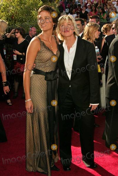 Alexandra Hedison Photo - Alexandra Hedison and Ellen Degeneres at the 56 Annual Primetime Emmy Awards at The Shrine Auditorium Los Angeles CA 09-19-04
