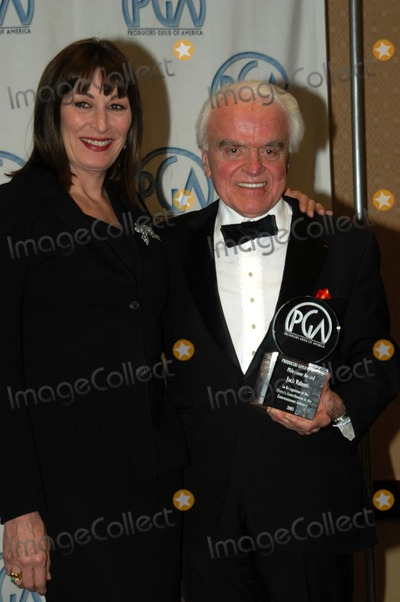 Angelica Huston Photo - Jack Valenti and Angelica Huston at the 14th Annual Producers Guild Awards Century Plaza Hotel Century City CA 03-02-03