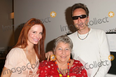 Anne V Photo - Phoebe Price James Hickox and mother Anne V Coates