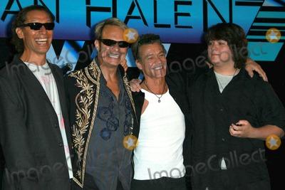 Alex Van Halen Photo - Alex Van Halen and David Lee Roth with Eddie Van Halen and Wolfgang Van Halenat the Van Halen Reunion Tour Press Conference Four Seasons Hotel Los Angeles CA 08-13-07