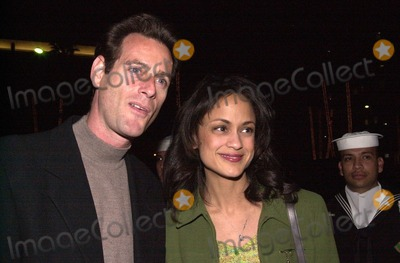 Ann-Marie Johnson Photo -  Anne Marie Johnson and husband at the JAG 100th Episode Party Spago 02-07-00