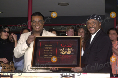 Ernie Isley Photo - Ron and Ernie Isley at the induction ceremony for the Isley Brothers at Hollywoods Rock Walk Guitar Center 01-10-02