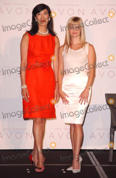 ANDREA JUNG Photo - Andrea Jung and Reese Witherspoonat the press conference introducing Reese Witherspoon as the first ever AVON Global Ambassador Beverly Wilshire Hotel Beverly Hills CA 08-01-07