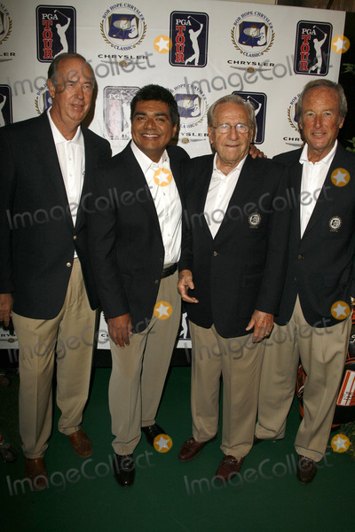 John Foster Photo - John Foster and George Lopez with Ernie Dunlevie and Steve Mortonat the press conference announcing George Lopez as the celebrity spokesperson for the 2007 Bob Hope Chrysler Classic Warner Bros Studios Burbank CA 08-22-06