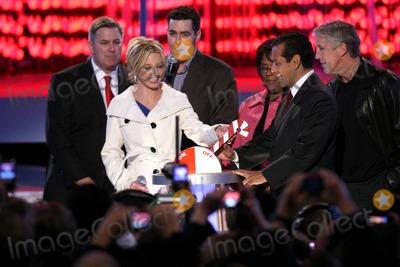 Adam Carolla Photo - Britney Spears with Adam Carolla and Antonio Villaraigosa  at the Debut of LA Lives Light of Angels LA Live Los Angeles CA 12-04-08
