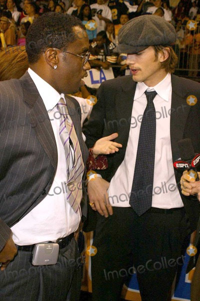 Sean Diddy Combs Photo - Sean P Diddy Combs and Ashton Kutcher at the 2004 NBA All-Star Celebrity Basketball Game in the Los Angeles Convention Center Los Angeles CA 02-13-04