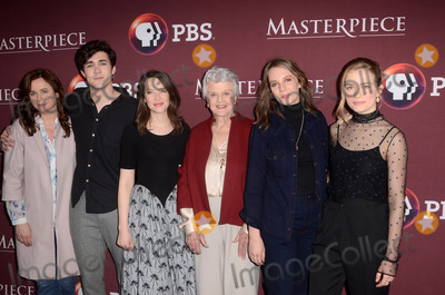 Annes Elwy Photo - Emily Watson Jonah Hauer-King Annes Elwy Angela Lansbury Maya Hawke Willa Fitzgeraldat the Little Women Photocall 2018 TCA Winter  Langham Hotel Pasadena CA 01-16-18