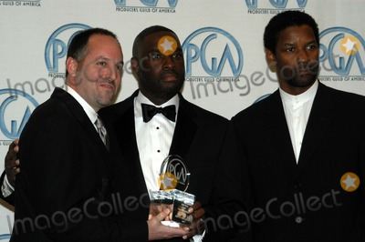 Antwone Fisher Photo - Todd Black and Antwone Fisher and Denzel Washington at the 14th Annual Producers Guild Awards Century Plaza Hotel Century City CA 03-02-03
