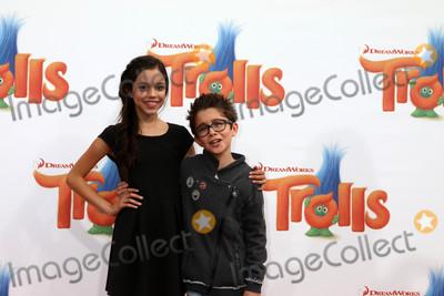 Nicolas Bechtel Photo - Jenna Ortega Nicolas Bechtelat the Trolls Premiere Village Theater Westwood CA 10-23-16