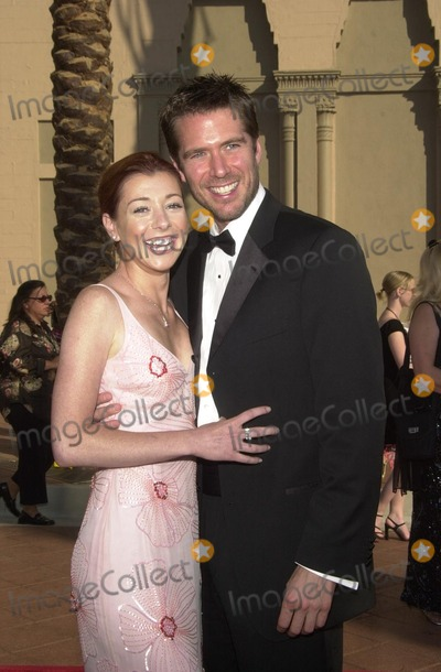 Alexis Denisof Photo - Alyson Hannigan and Alexis Denisof at the 2002 Creative Arts Emmy Awards Shrine Auditorium Los Angeles CA 09-14-02