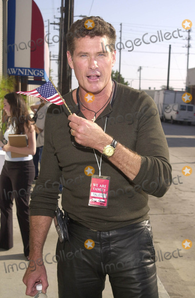 911 Photo -  DAVID HASSLEHOFF at the celebrity recording of We Are Family to benefit the victims of New Yorks 9-11 tragedy 09-23-01