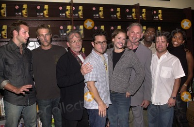 Alias Photo - Bradley Cooper Michael Vartan Ron Rifkin JJ Abrams Jennifer Garner Victor Garber Carl Lumbly Kevin Weisman and Merrin Dungey