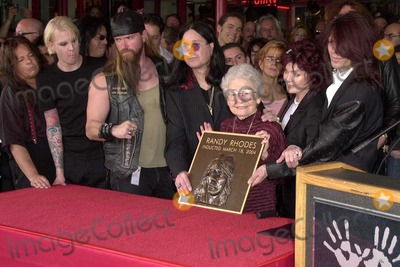 Randy Rhoads Photo - Family and friends of Randy Rhoads honor him at the ceremony posthumously inducting guitarist Randy Rhodes into Hollywoods Rockwalk on Sunset Boulevard Hollywood CA 03-18-04