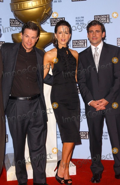 Steve Carell Photo - Mark Wahlberg with Kate Beckinsale and Steve Carellat the 63rd Annual Golden Globe Awards Nominations Press Conference Beverly Hilton Hotel Beverly Hills CA 12-13-05