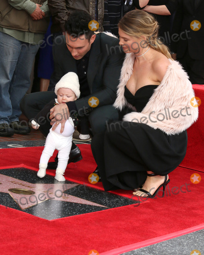 Adam Levine Photo - LOS ANGELES - FEB 10  Adam Levine Dusty Roee Levine Behati Prinsloo at the Adam Levine Hollywood Walk of Fame Star Ceremony at Musicians Institute on February 10 2017 in Los Angeles CA