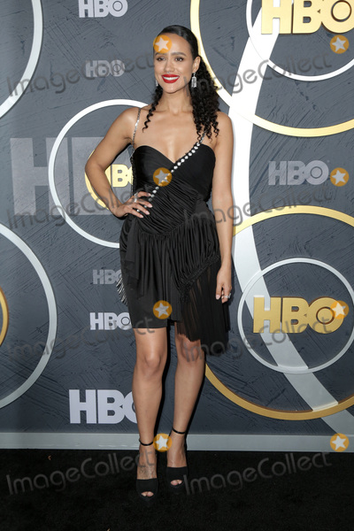 Nathalie  Photo - LOS ANGELES - SEP 22  Nathalie Emmanuel at the HBO Emmy Party at the Pacific Design Center on September 22 2019 in West Hollywood CA