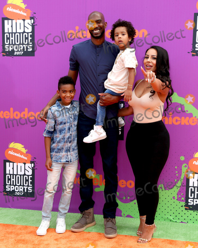 Corey Brewer Photo - LOS ANGELES - July 13  Corey Brewer Monique  kids at the Nickelodeon Kids Choice Sports Awards 2017 at the Pauley Pavilion on July 13 2017 in Westwood CA