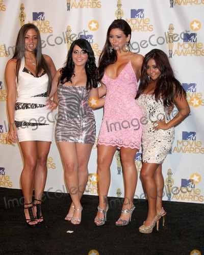 Angelina Jolie Pivarnick Photo - (L-R) Sammi Giancola Angelina Jolie Pivarnick Jenni JWOWW Farley (L) and Nicole Snooki Polizziin the press room of the MTV Movie Awards 2010Gibson AmpitheaterLos Angeles CAJune 6 2010