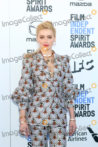 Amber Heard Photo - LOS ANGELES - FEB 8  Amber Heard at the 2020 Film Independent Spirit Awards at the Beach on February 8 2020 in Santa Monica CA