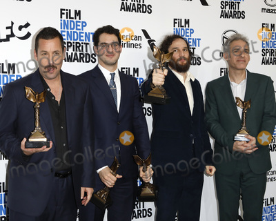 Adam Sandler Photo - LOS ANGELES - FEB 8  Adam Sandler Benny Safdie Josh Safdie Ronald Brownstein at the 2020 Film Independent Spirit Awards at the Beach on February 8 2020 in Santa Monica CA