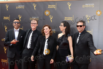 Adam Schlesinger Photo - LOS ANGELES - SEP 10  Guest Jack Dolgen Rachel Bloom Adam Schlesinger at the 2016 Creative Arts Emmy Awards - Day 1 - Arrivals at the Microsoft Theater on September 10 2016 in Los Angeles CA