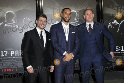 Alek Skarlatos Photo - LOS ANGELES - FEB 5  Alek Skarlatos Anthony Sadler Spencer Stone at the The 1517 To Paris World Premiere at the Warner Brothers Studio on February 5 2018 in Burbank CA
