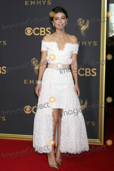 Alessandra Mastronardi Photo - LOS ANGELES - SEP 17  Alessandra Mastronardi at the 69th Primetime Emmy Awards - Arrivals at the Microsoft Theater on September 17 2017 in Los Angeles CA