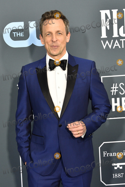 Seth Meyer Photo - LOS ANGELES - JAN 12  Seth Meyers at the Critics Choice Awards 2020 at the Barker Hanger on January 12 2020 in Santa Monica CA
