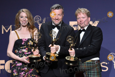 Annabel Jones Photo - LOS ANGELES - SEP 22  Annabel Jones Charlie Brooker Russell McLean at the Emmy Awards 2019 PRESS ROOM at the Microsoft Theater on September 22 2019 in Los Angeles CA