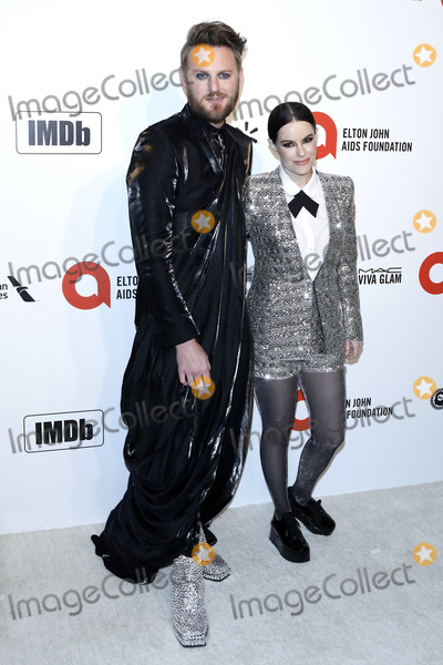Bobby Berk Photo - LOS ANGELES - FEB 9  Bobby Berk Emily Hampshire at the 28th Elton John Aids Foundation Viewing Party at the West Hollywood Park on February 9 2020 in West Hollywood CA