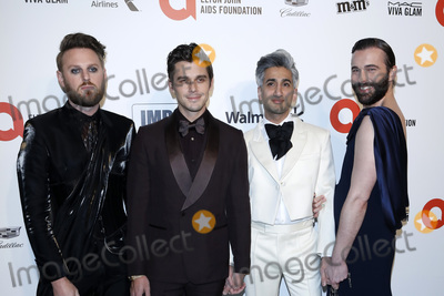 Tan France Photo - LOS ANGELES - FEB 9  Bobby Berk Antoni Porowski Tan France Jonathan Van Ness at the 28th Elton John Aids Foundation Viewing Party at the West Hollywood Park on February 9 2020 in West Hollywood CA