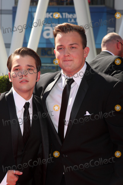Noah Munck Photo - LOS ANGELES - SEP 15  Nathan Kress Noah Munck at the Creative Emmys 2013 - Arrivals at Nokia Theater on September 15 2013 in Los Angeles CA