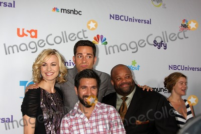 Joshua Gomez Photo - LOS ANGELES - AUG 1  Yvonne Strahovski Zach Levi Mark Christopher Lawrence Joshua Gomez (front) arriving at the NBC TCA Summer 2011 Party at SLS Hotel on August 1 2011 in Los Angeles CA