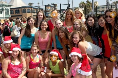 The Radio City Rockettes Photo - LOS ANGELES - AUG 12  Stephanie Gatschet  Chrishnell Strause with Dance students  at the  Kicking Across America with the Radio City Rockettes Event at Santa Monica Pier on August 12 2010 in Santa Monica  CA