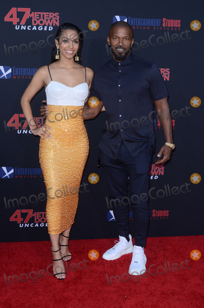Jamie Foxx Photo - LOS ANGELES - AUG 13  Corinne Foxx Jamie Foxx at the 47 Meters Down Uncaged Los Angeles Premiere at the Village Theater on August 13 2019 in Westwood CA