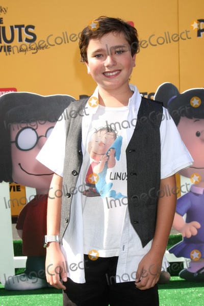 Alex Garfin Photo - LOS ANGELES - NOV 1  Alex Garfin at the The Peanuts Movie Los Angeles Premiere at the Village Theater on November 1 2015 in Westwood CA