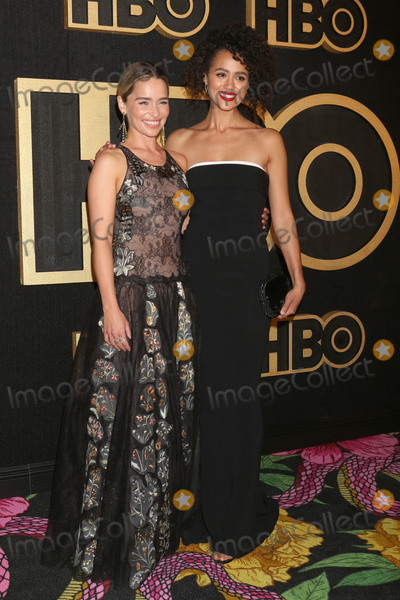 Nathalie  Photo - LOS ANGELES - SEP 17  Emilia Clarke Nathalie Emmanuel at the HBO Emmy After Party - 2018 at the Pacific Design Center on September 17 2018 in West Hollywood CA