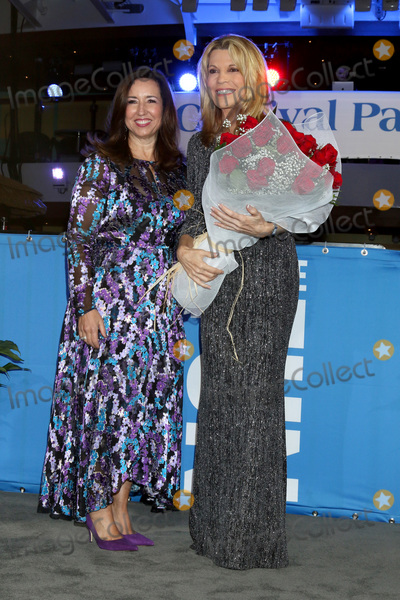 Vanna White Photo - LOS ANGELES - DEC 10  Christine Duffy Vanna White at the Carnival Panorama Press Day at Long Beach Carnival Cruise Terminal on December 10 2019 in Long Beach CA