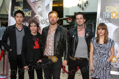 Airborne Toxic Event Photo - LOS ANGELES - AUG 23  The Airborne Toxic Event arrives at the Going the Distance Los Angeles Premiere at Graumans Chinese Theater on August 23 2010 in Los Angeles CA