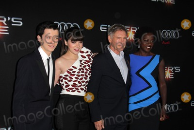 Asa Butterfield Photo - LOS ANGELES - OCT 28  Asa Butterfield Hailee Steinfeld Harrison Ford Viola Davis at the Enders Game Los Angeles Premiere at TCL Chinese Theater on October 28 2013 in Los Angeles CA